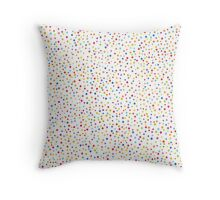 Сolorful confetti seamless pattern Throw Pillow