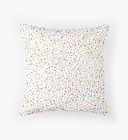 Сolorful confetti seamless pattern Throw Pillow