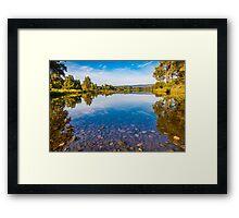 Lagoon Reflections Framed Print