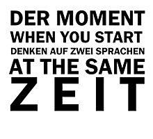 Funny German Bilingual Photographic Print