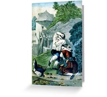 Frightened brood - Circa 1880 - Currier & Ives Greeting Card