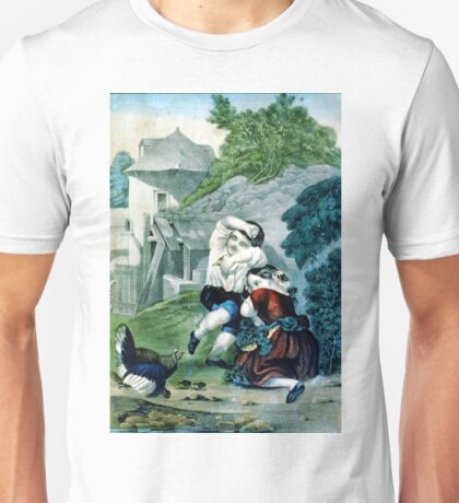 Frightened brood - Circa 1880 - Currier & Ives Unisex T-Shirt