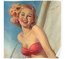 Pinup Sailor Poster