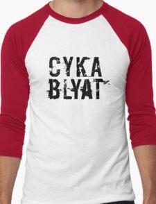 Cyka Blyat (Black Version) Men's Baseball ¾ T-Shirt