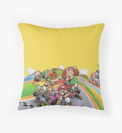 Mario Kart Extended illustration Throw Pillow