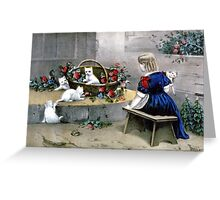 Frolicsome pets - 1856 - Currier & Ives Greeting Card