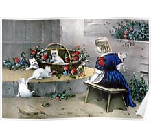 Frolicsome pets - 1856 - Currier & Ives Poster