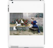 Frolicsome pets - 1856 - Currier & Ives iPad Case/Skin