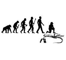 Funny Paleontologist Evolution  Photographic Print