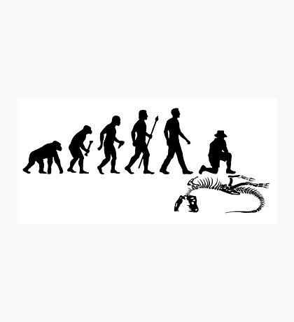 Funny Paleontologist Evolution  Photographic Print