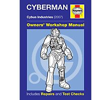 Haynes Manual - Cyberman - Poster & stickers Photographic Print