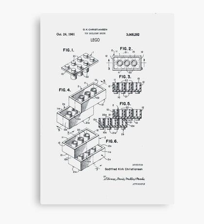 Lego Patent 1961 Canvas Print