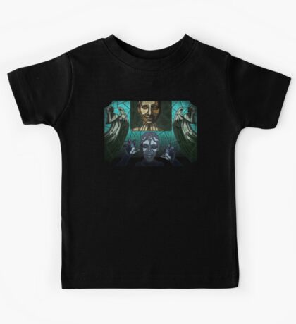 Weeping angels stained glass Kids Tee