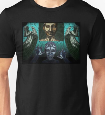 Weeping angels stained glass Unisex T-Shirt
