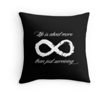Life Infinite (Black) Throw Pillow