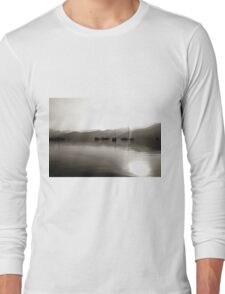 Gulets In Greyscale Long Sleeve T-Shirt