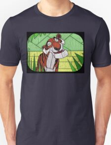 Old Stripy  - stained glass villains T-Shirt