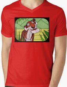 Old Stripy  - stained glass villains Mens V-Neck T-Shirt
