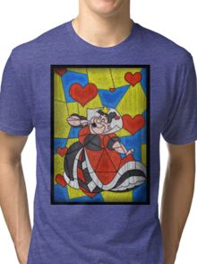 Off with their Heads! - stained glass villains Tri-blend T-Shirt