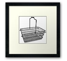 Shopping basket Framed Print