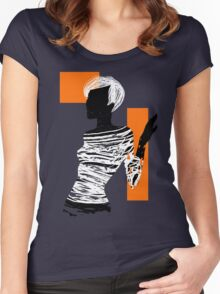 Brushilhouette 03 Women's Fitted Scoop T-Shirt