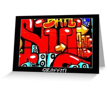 Graffiti 19 Labeled Greeting Card