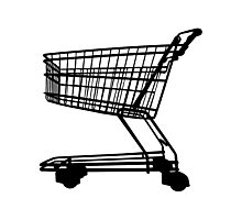 Shopping Trolley Photographic Print