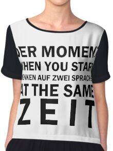 Funny German Bilingual Chiffon Top