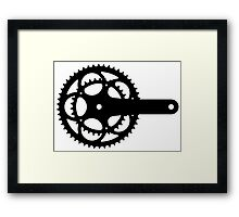 Bicycle chain set Framed Print