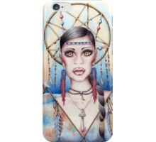 Native Woman Dreamcatcher Drawing iPhone Case/Skin