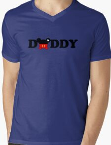 Daddy Mickey Mens V-Neck T-Shirt