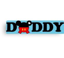 Daddy Mickey Canvas Print