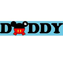 Daddy Mickey Photographic Print