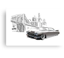 Cadillac DeVille Hardtop Coupe Custom '1960 (brown) Metal Print