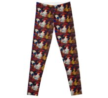 Poultry red Leggings