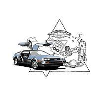 DeLorean DMC-12 (silver) Photographic Print
