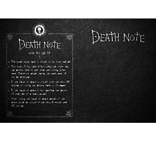 Death Note Notebook Journal Photographic Print