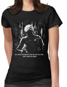 Blade Runner - Like Tears in Rain Womens Fitted T-Shirt