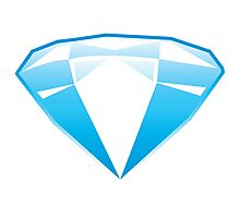 blue jewell opal diamond Photographic Print