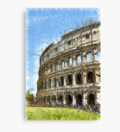 Colosseum Or Coliseum Pencil Canvas Print