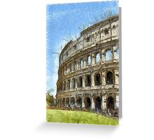 Colosseum Or Coliseum Pencil Greeting Card