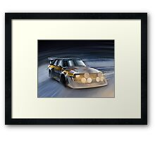 Audi Sport quattro S1 Group B Rally Car Framed Print