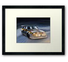 Audi Sport quattro S1 Group B Rally Car Framed Print