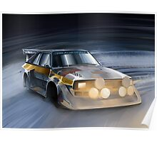 Audi Sport quattro S1 Group B Rally Car Poster