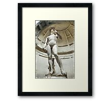 David by Michelangelo Pencil Framed Print