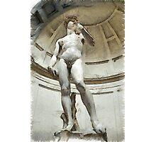 David by Michelangelo Pencil Photographic Print