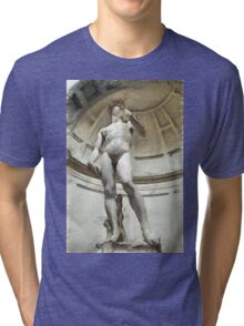 David by Michelangelo Pencil Tri-blend T-Shirt