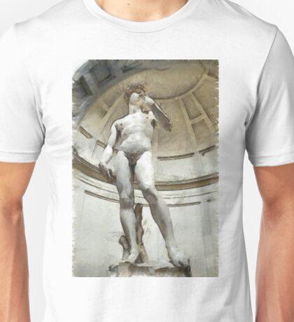 David by Michelangelo Pencil Unisex T-Shirt