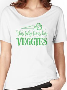 this lady loves her vegetables Women's Relaxed Fit T-Shirt