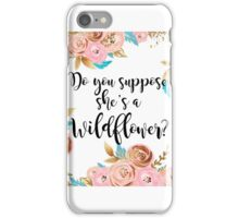 Blush pink and gold wildflower iPhone Case/Skin